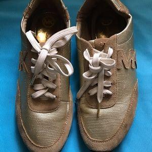 Micheal Kors Golden Shoes